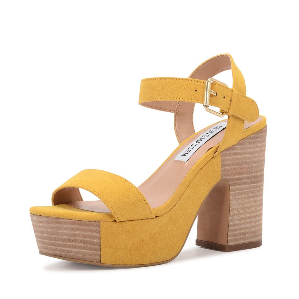 Steve Madden zanto sandaal geel